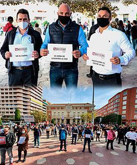 Concentración de representantes de la hostelería de Castellón