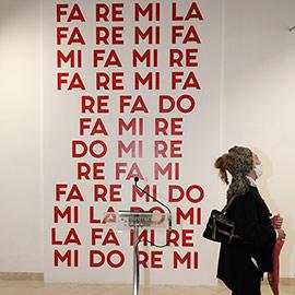 Transgresión y fuerza en la exposición ´La-Re-Mi-La´ de Carles Santos