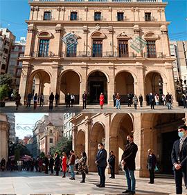 Minuto de silencio Ayuntamiento de Castellón 25 noviembre