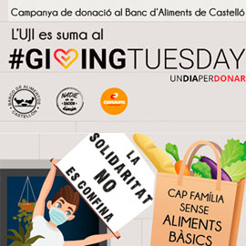 La UJI se suma al movimiento global #GivingTuesday