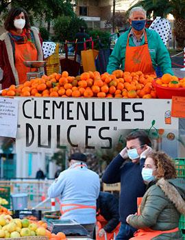 Comienza la tradicional Fira de la Taronja de los domingos con el lema ´´cuidem l´agricultura´´