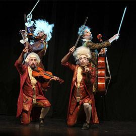 Espectáculo Maestrissimo, Pagagnini 2, de la compañía Yllana