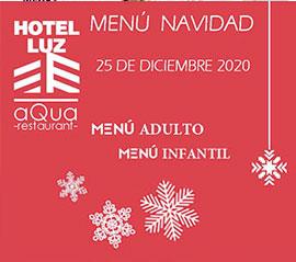 Menús para el día de Navidad del Hotel Luz y empresas, también para llevar