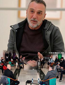 Álex Francés  en las tardes de encuentro de la Sala San Miguel de la Fundació Caixa Castelló