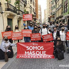 La hostelería de Castellón realiza una nueva protesta