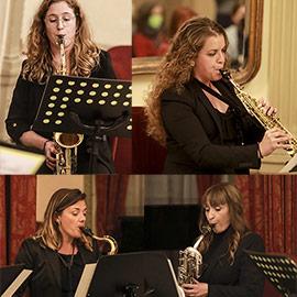 Actuación del cuarteto de jazz Elle Sax en Castellón