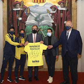 Reconocimiento al equipo femenino del Villarreal C.F con motivo de su ascenso a primera división