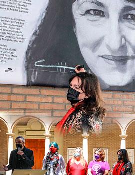 Inauguración de la exposición de Concha Mayordomo en l'Escola d'Art i Superior de Disseny de Castelló