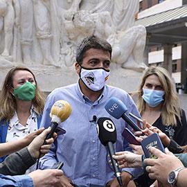 Carlos Mazón se reúne con miembros del PP Castellón