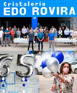 Cristalería Edo Rovira celebra su 65 aniversario