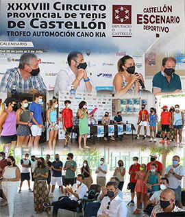 Presentación del XXXVIII CIRCUITO DE TENIS – CIRCUITO PROVINCIAL DE TENIS DE CASTELLÓN – TROFEO AUTOMOCIÓN CANO KIA