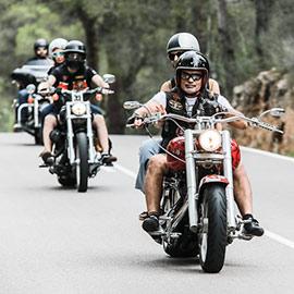 Desfile de Harley Davidson por Castelló