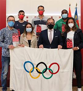 Recepción oficial al equipo de deportistas que ha representado a la provincia en Tokio 2020