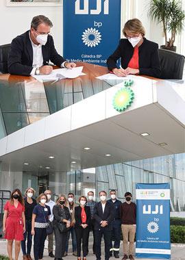 bp y la UJI renuevan el convenio para la Cátedra bp de Medio Ambiente Industrial